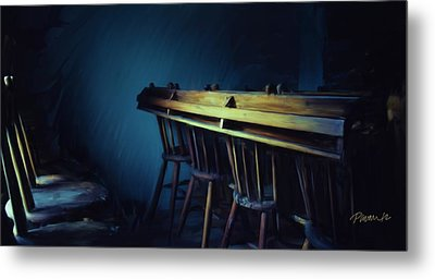 New Zealand Series - St. Ozwald's Choir Loft Metal Print by Jim Pavelle