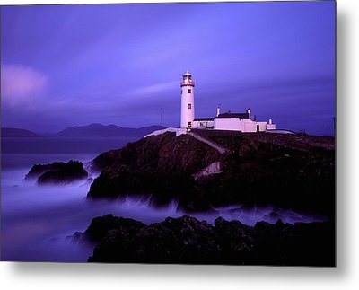 Newcastle, Co Down, Ireland Lighthouse Metal Print by The Irish Image Collection