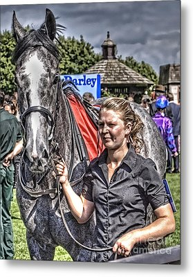 Metal Print featuring the photograph Newmarket Races I by Jack Torcello
