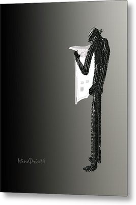 Newspaper Reader Metal Print by Asok Mukhopadhyay