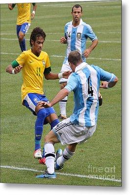 Neymar Doing His Thing IIi Metal Print by Lee Dos Santos