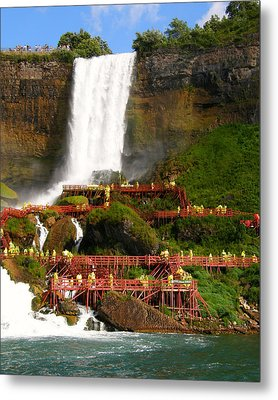 Metal Print featuring the photograph Niagara Falls Cave Of The Winds by Mark J Seefeldt