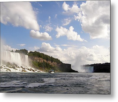 Metal Print featuring the photograph Niagara Falls View From The Maid Of The Mist by Mark J Seefeldt