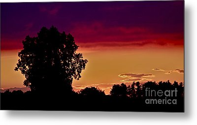 Niagra Sunset Metal Print