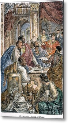 Nicaea Council, 325 A.d Metal Print by Granger
