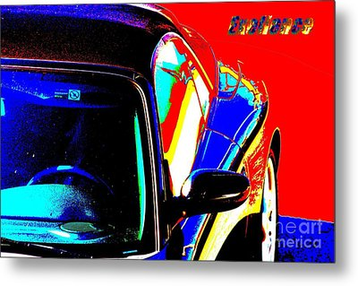 Metal Print featuring the mixed media Nice Car by Rogerio Mariani