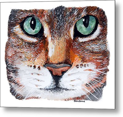 Metal Print featuring the painting Nice Kitty by Terry Banderas