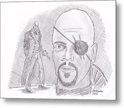Nick Fury- Director Of S.h.i.e.l.d. Metal Print by Chris  DelVecchio