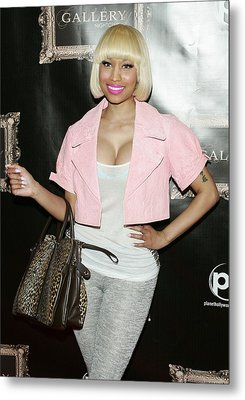 Nicki Minaj In Attendance Metal Print by Everett