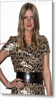 Nicky Hilton In Attendance For Launch Metal Print by Everett