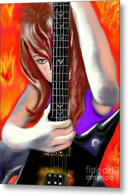 Metal Print featuring the painting Nicole  by Lori  Lovetere