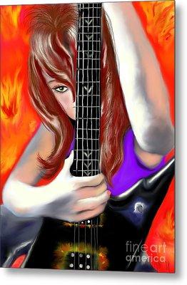 Nicole  Metal Print by Lori  Lovetere