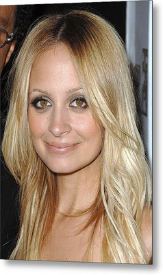 Nicole Richie  At Arrivals Metal Print by Everett