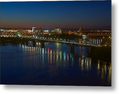 Night Bridges Metal Print