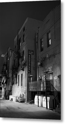 Metal Print featuring the photograph Night In The Alley by James Bethanis