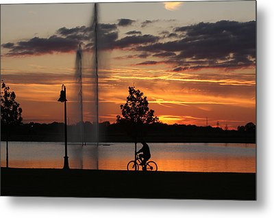 Night Is Comming Metal Print by Ronald Olivier