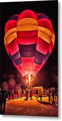 Metal Print featuring the photograph Night Lighting Of Ballon by James Bethanis