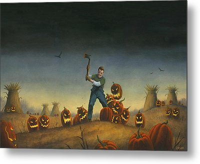 Night Of The Jack-o-lanterns Metal Print by Stacy Drum