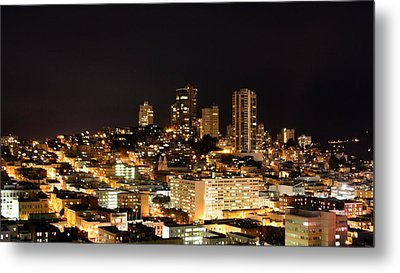Night View Of San Francisco Metal Print by Luiz Felipe Castro