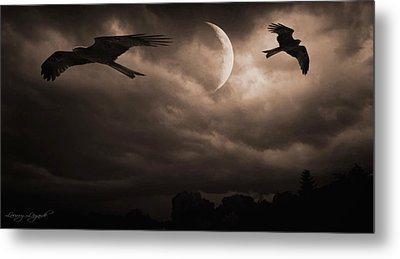 Nightly Flight Metal Print by Lourry Legarde
