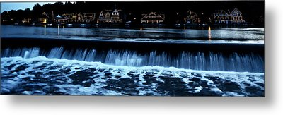 Nighttime At Boathouse Row Metal Print by Bill Cannon