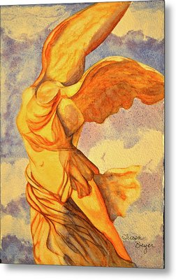 Metal Print featuring the painting Nike Goddess Of Victory by Teresa Beyer
