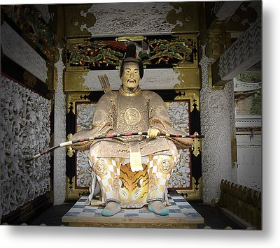 Nikko Golden Sculpture Front Metal Print