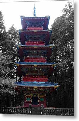 Nikko Pagoda Metal Print by Naxart Studio