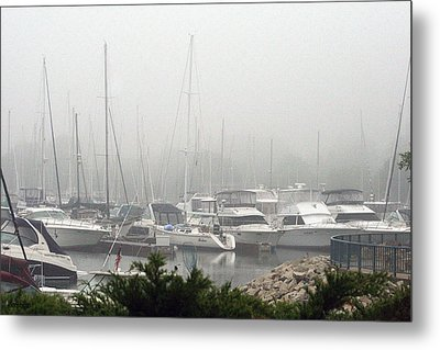 Metal Print featuring the photograph No Sailing Today by Kay Novy