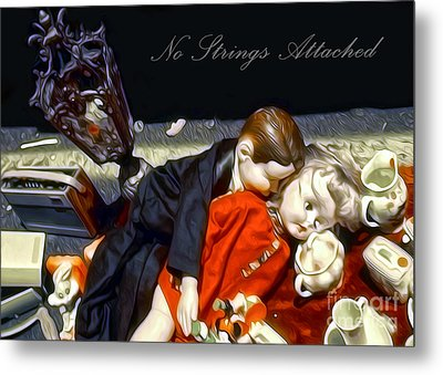 Metal Print featuring the painting No Strings Attached by Gregory Dyer