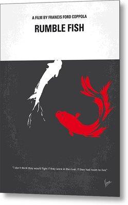 No073 My Rumble Fish Minimal Movie Poster Metal Print by Chungkong Art