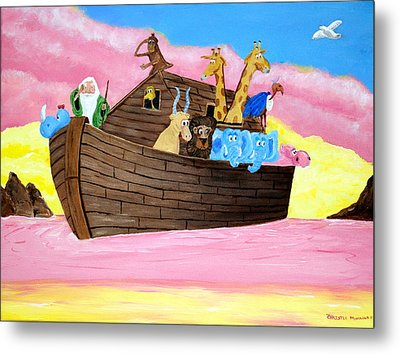 Metal Print featuring the painting Noah's Ark by Christie Minalga