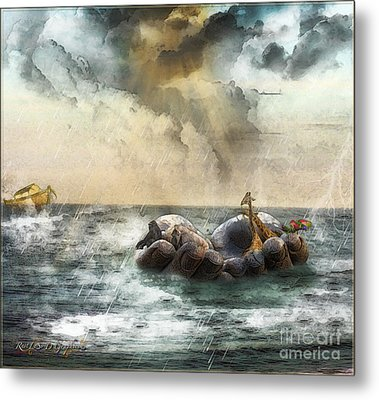 Metal Print featuring the digital art Noah's Ark Stragglers by Rhonda Strickland