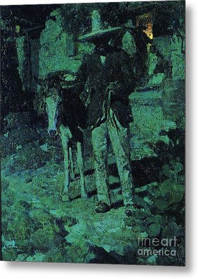 Nocturne Contrast Metal Print by Pg Reproductions