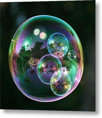 #nofilter #doubletap #bubbles Metal Print