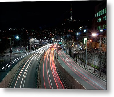 Noksapyeong Bridge Metal Print by Shannon Aston Photography