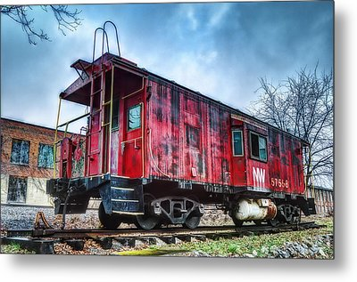 Norfolk Western Caboose Metal Print by Steve Hurt
