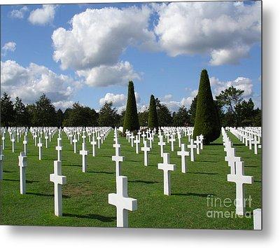 Normandy American Cemetery Metal Print by Carol Groenen