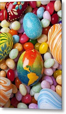 North America Easter Egg Metal Print by Garry Gay