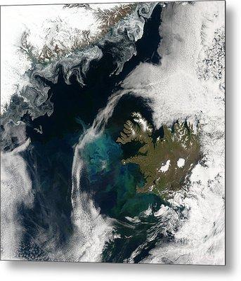 North Atlantic Bloom Metal Print by Science Source