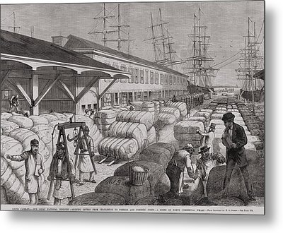 North Commercial Wharf Of Charleston Metal Print by Everett