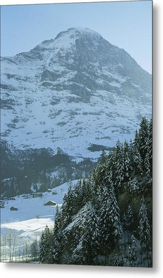 North Face Of The Eiger Towers Metal Print by Gordon Wiltsie