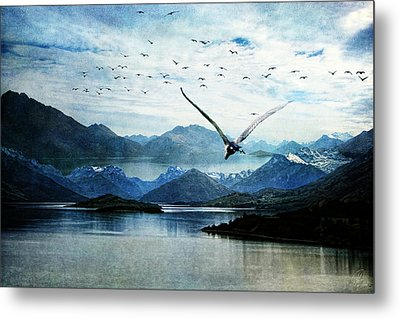 North For The Winter Metal Print by Margaret Hormann Bfa