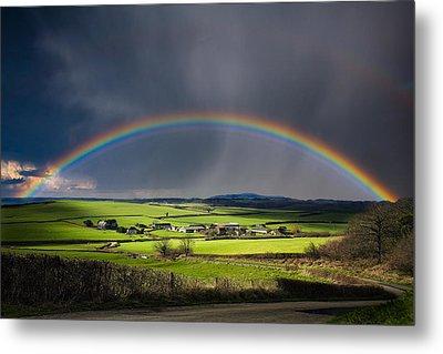 North Poorton Rainbow Metal Print by Kris Dutson