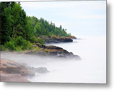 North Shore Fog Metal Print by Perry Webster
