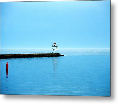 North Shore Lighthouse Metal Print by Bridget Johnson