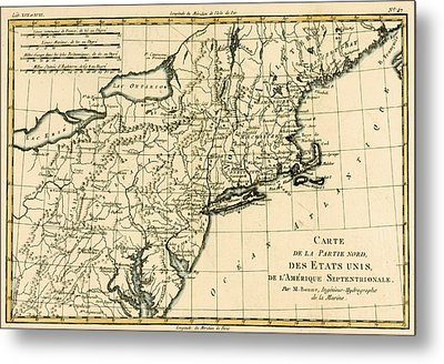 Northeast Coast Of America Metal Print by Guillaume Raynal