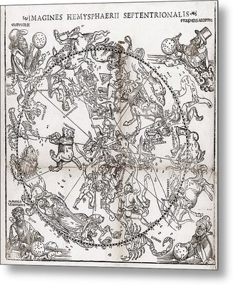 Northern Hemisphere Star Chart, 1537 Metal Print by Middle Temple Library