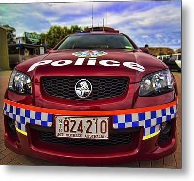 Metal Print featuring the photograph Northern Territory Police Car by Paul Svensen