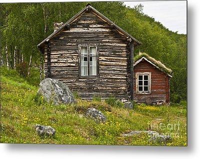 Norwegian Timber House Metal Print by Heiko Koehrer-Wagner